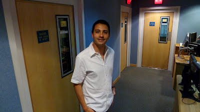 Stephann at BBC Radio 4 studios in London